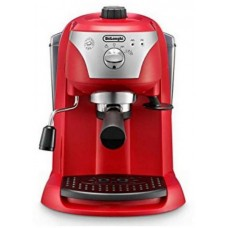 ماكينة تحضير القهوة والاسبريسو من ديلونجي EC221R، 1.4 لتر، احمر